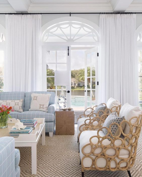 39 Coastal Living Rooms To Inspire You, Beach Living Room Furniture