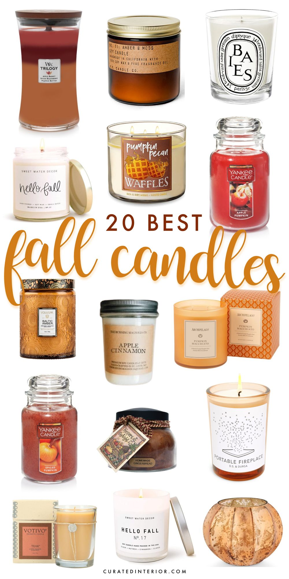 20 Best Fall Scented Candles