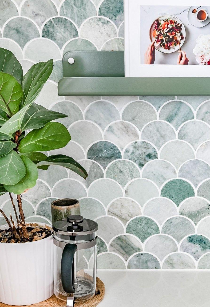 Coastal Tile Decor Ideas - Meerjungfrau Fliesen über H und G Designs