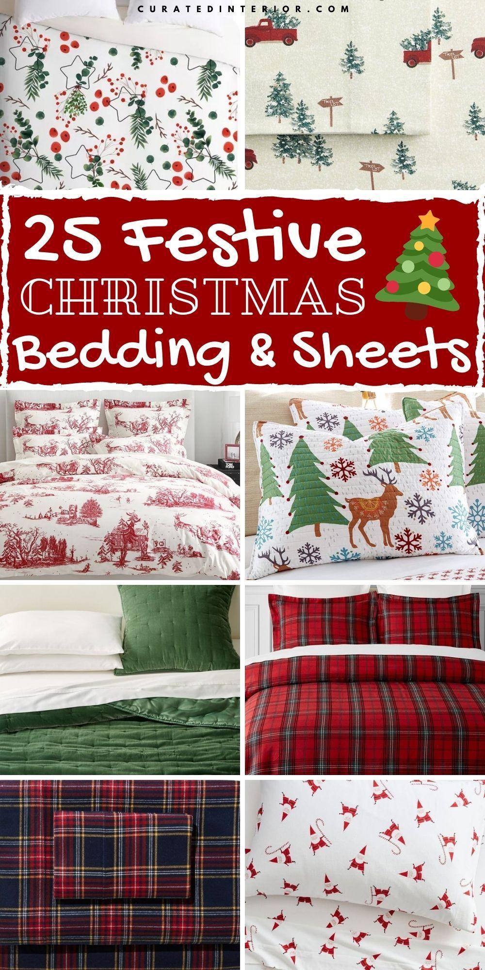 25 festliche Weihnachtsbettwäsche und Bettwäsche