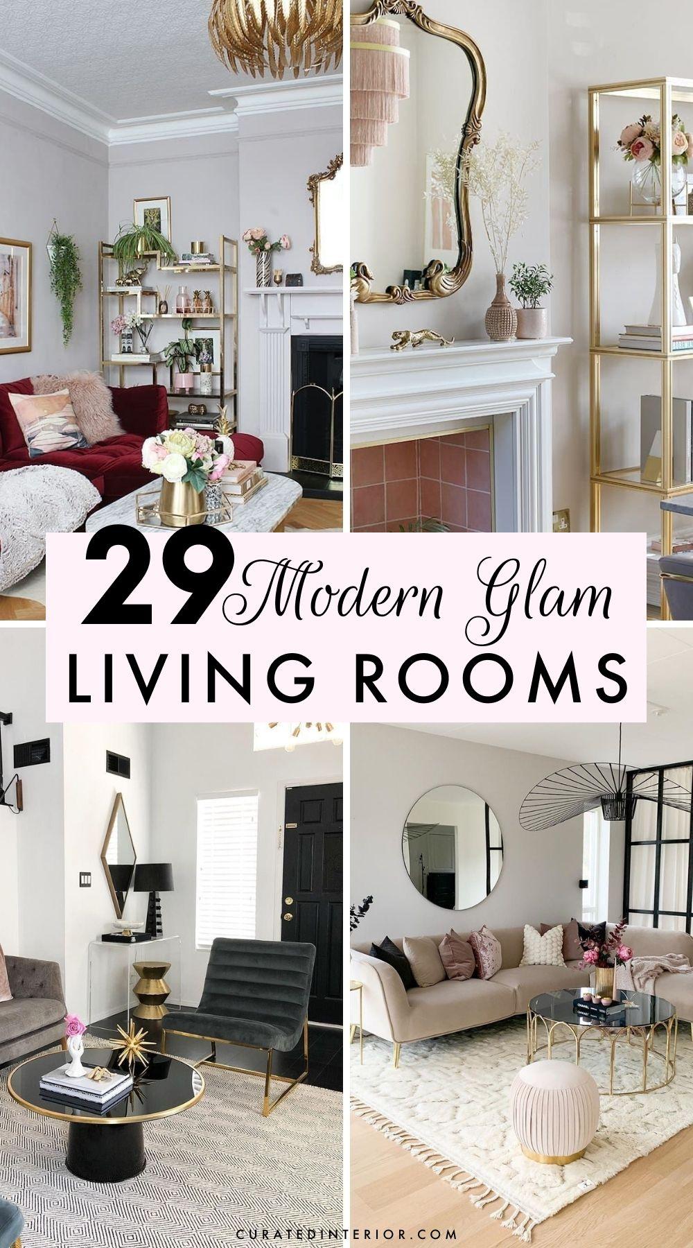 29 moderne glamouröse Wohnzimmer