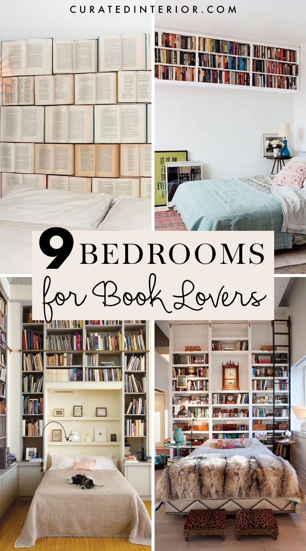 9 Schlafzimmer für Bücherliebhaber - endlose Dekorationsideen für Bücherregale