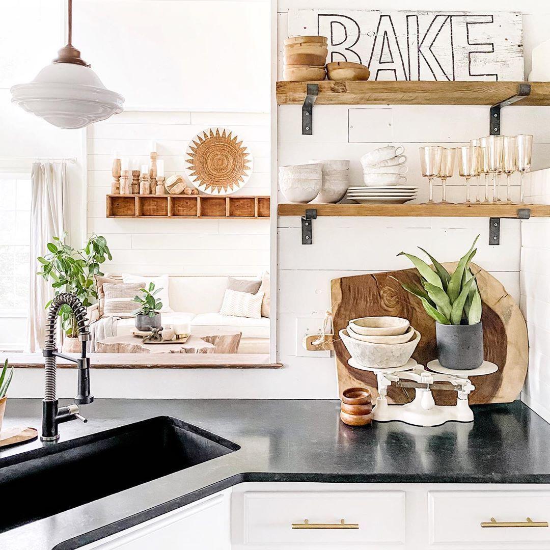 Bauernhaus Küche Dekor Holz Wort Zeichen über @cb_designs