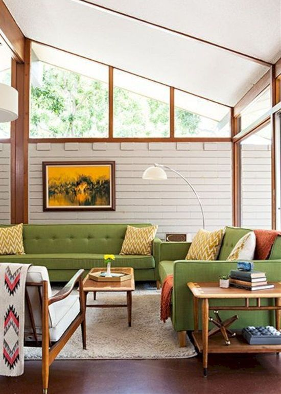 35 Retro Mid Century Modern Living Rooms
