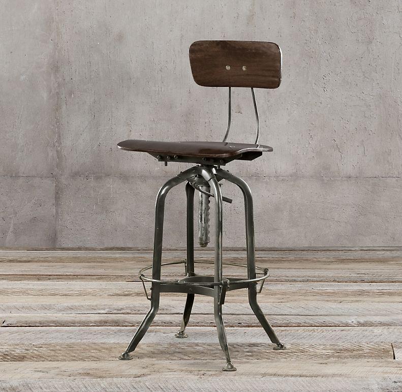 RH Draftsman Industrial Task Chair
