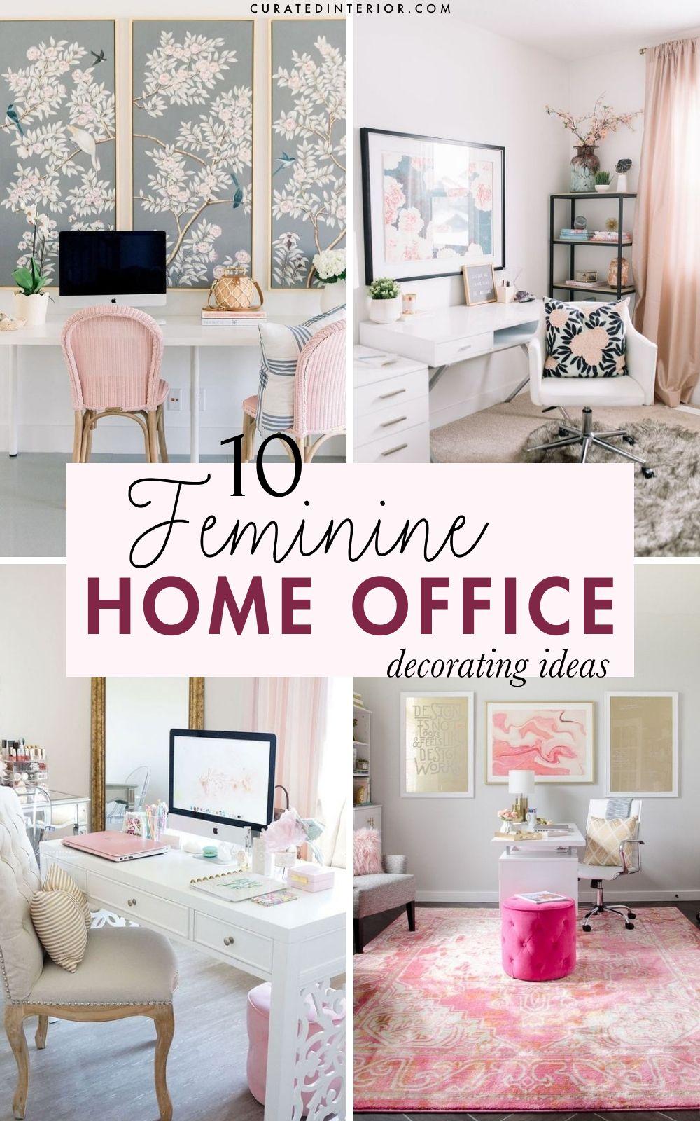 10 Gorgeous Easy Feminine Home Office Decor Ideas