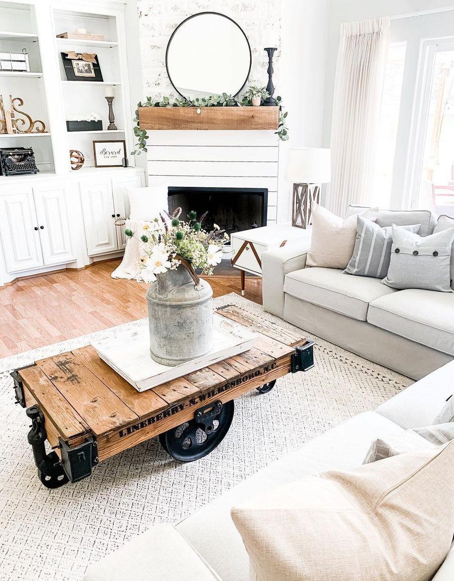 Modern Farmhouse Living Room Decor Ideas, Farmhouse Living Room