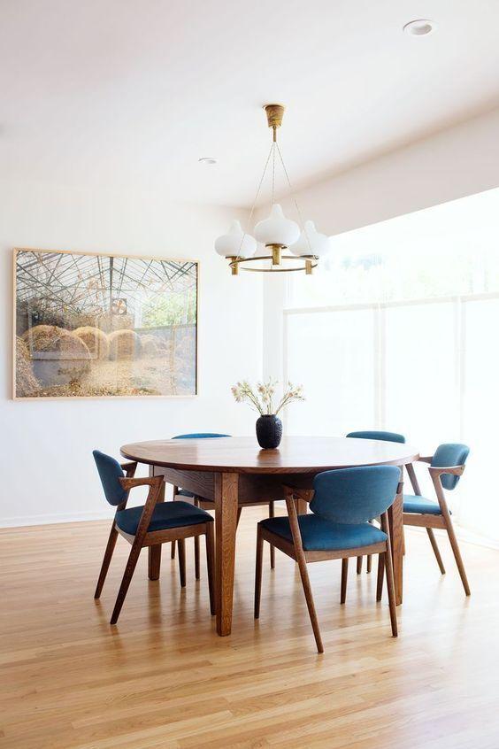 29 Mid Century Modern Dining Room Decor, Round Mid Century Modern Dining Table