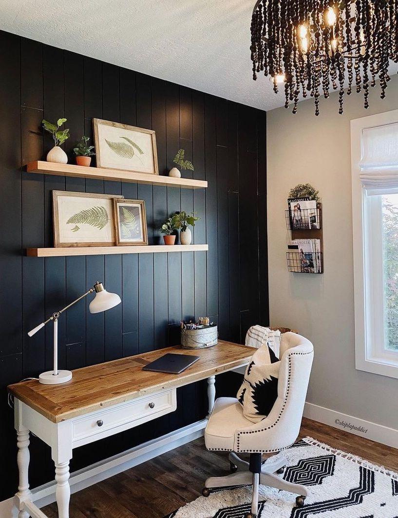 51 Best Farmhouse Home Office Decor Ideas Inspiration