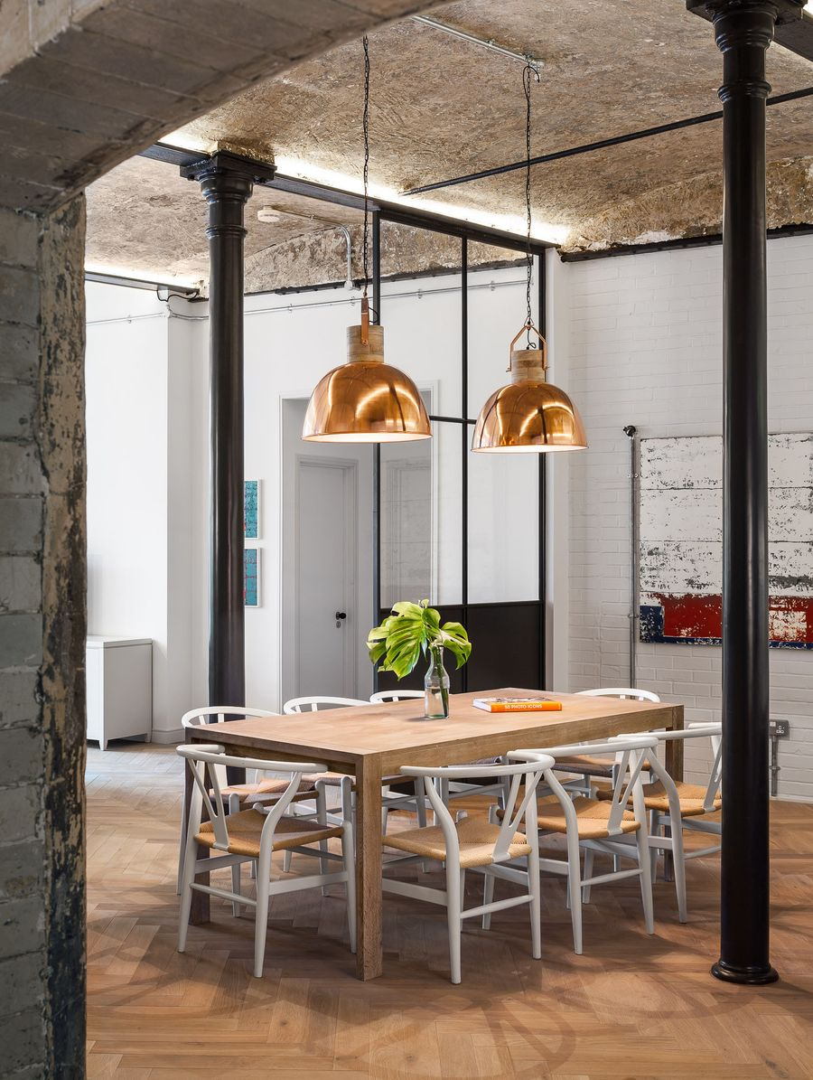 29 Industrial Dining Rooms With Raw Beauty, Industrial Style Dining Room Sets