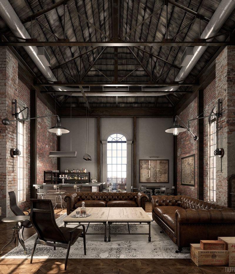 Industrial Living Room Decor Ideas, Industrial Living Room