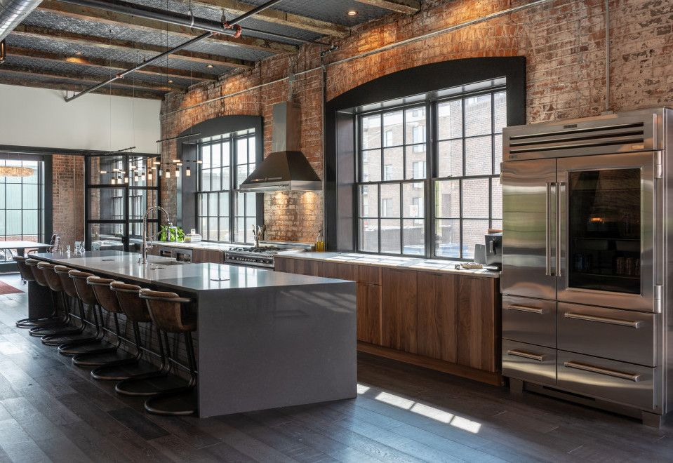 23 Industrial Kitchen Design Ideas