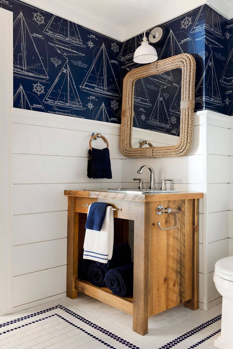 19 Nautical Bathrooms For Inspiration, Nautical Pictures For Bathrooms